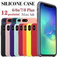 1 pezzo! Custodia in silicone per iPhone 12 11 Pro Max 6 7 8 Plus X Max Telefono 12 Cassa del telefono senza scatola al minuto