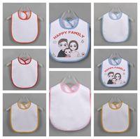 أبيض فارغة الوليد بروب الملابس الحرارية نقل الحرارية diy طباعة اللعاب الأنسجة الطفل ماء مريلة الرضع اللعاب منشفة الطفل تغذية القماش E122107