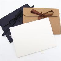 크래프트 종이 봉투 커버 얼굴 마스크 상자 패션 리본 리본 남자 레이디 선물 검은 갈색 흰색 뜨거운 판매 1 5WH F2
