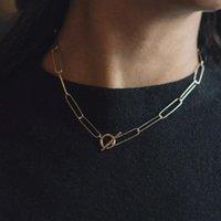 Collar de cadena de cadena de cadena de aleación de alta calidad de alta calidad collar de cadena minimalista collar de joyería femenina accesorios de moda de moda1