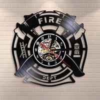 Спасательный пожарный отдел знак украшения пожарный виниловая запись стены человек пещеры пожарные декоративные часы часы 201212
