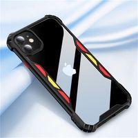 Nuovo anti goccia e la cover posteriore del telefono cellulare di colore acrilico per iPhone 12 11 xr pro max x / xs max 7/8 6 / 6s più caso di telefono cellulare antiurto