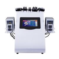6 IN1 40K 초음파 지방 흡입 수술 공동 현상 8 패드 LLLT Lipo 레이저 슬리밍 기계 진공 RF 바디 살롱 스파 장비