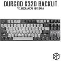 Durgod 87 Corona retroilluminato Keyboard meccanico Cherry MX Interruttori PBT DoubleShot KeyCaps Brown Blue Black Red Silver Switch LJ200925