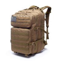 Sacos ao ar livre mochilas mochila tática mochila militar saco homens mulheres 43l exército bagpack esportes 3p água impermeável molle pacotes