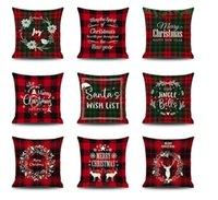 Pillow Cover 45 x 45cm Christmas Santa Claus Cushion Cover Decoration Pillows Cover Home Sofa Decorative Pillowcase 114 Styles Xmas Gift 22