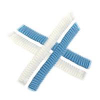 10 unids Tapas de ducha desechables no tejidas Pleated Anti-Dust Sombrero Mujeres Hombres Hombres Baño Caps para Spa Pelo Salón Belleza ACC QYLFEH