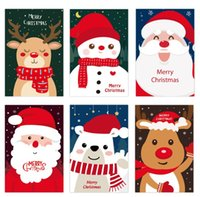 Creative Santa Claus Snowman Greeting Card Merry Christmas card new year cartoon Blessing cards 10*15cm Christmas decorations