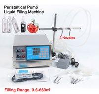 2 Responsabile Digital elettrico Manuale pompa peristaltica macchinari piccola bottiglia di profumo del tubo succo di Acqua Minerale olio liquido macchina di rifornimento 0.5-650ml