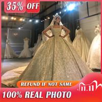 Amanda Novias diseño real de fotos de boda imponente trabajo rebordear el vestido de novia 2020 Q1113