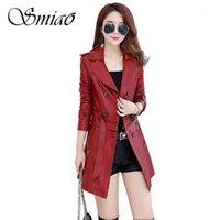 SMIAO Femenino de cuero PU Jacket PU Faux Cuero Outwear Winter Plus Tamaño 4xl Coat 2018 Autumn Suede Ropa de mujer M-5XL1