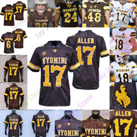 Custom Wyoming Football Jersey NCAA College Josh Allen Xazavian Valladay Levi Williams Isaías Neyor Bertagnole Charles Hicks Victor Jones