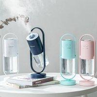 LED 프로젝터 공기 가습기 청정기 360 비례 USB 미니 휴대용 아로마 오일 Essentail 디퓨저 미스트 메이커 가정용 자동차 용