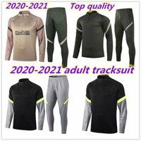 2020 남자 훈련 정장 축구 자켓 tracksuit camiseta de fútbol lonente 20/21 축구 재킷 긴 지퍼 트랙 슈트