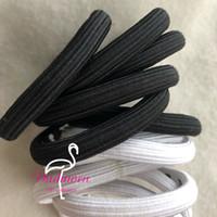 Klassisches weißes und schwarzes elastisches Haarhand-Druckbuchstabe C Mode-Haar-Krawatten-Mode-Haar-Seil-Geschenk-Sammel-Zubehör