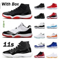 Jumpman Erkekler Kadınlar Basketbol Ayakkabıları 11s 25th Yıldönümü Bred 2019 5 S Alternatif Üzüm 4 S Union Hophomore Al Erkek Trainer Açık Spor Ayakkabı