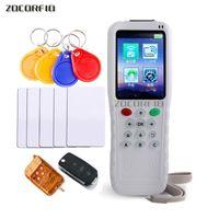 Lettore di schede di controllo accessi RFID e tasto auto / porta garage Duplicatore remoto / Copiatrice remota 125KHz / 13,56 MHz
