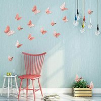 Hollow Butterfly Art Wall Pure Color Bedroom Living Room Home Decor Kids DIY Decoration Metal Painting WY304w