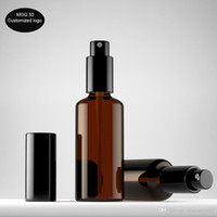 50pcs / lot 10ml 15ml 20ml 30ml 50ml Presse Brown Glas Sprühflasche Bernstein Enssential Ölflaschen, Lagerung Dispay Probenflaschen