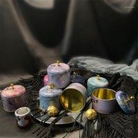 Geschenk Wrap 10 teile / los Hohe Qualität Hochzeit Candy Box Kreative Kuchen Kleine Glas Duftstoffe Kann Eisen Partei liefert1