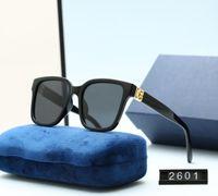 تصميم الأزياء الكلاسيكية الاستقطاب 2021 النظارات الشمسية الفاخرة للرجال النساء الطيار نظارات الشمس uv400 نظارات إطار معدني بولارويد عدسة 2601