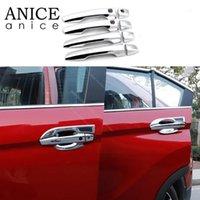 Andere Inneneinrichtungen 8 stücke High-Version Kohlefaserfarbe Außentürgriff Abdeckung Trim Fit für Mitsubishi Eclipse Kreuz 2021 ABS1