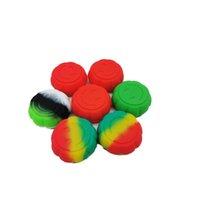 Contenitori di cera del silicone di forma della zucca contenitori di cera del silicone 6ml dell utensile dell'utensile di qualità del cibo di tipo 6ml supporto del serrato del barattolo per il contenitore del vaso di olio di cera concentrato