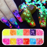 1box mixed sequins Laser DIY Star butterfly patch Nail Art D...