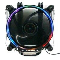 Ventilateurs de refroidissement KeePro CPU Refroidisseur 4 Pure Cuivre Cuisson Tuyaux de refroidissement Tours de refroidissement Système 12cm Radiateur de ventilateur pour AMD.