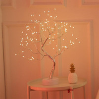 LED Night Tree Light Art Tabela de Fada Luz LED Corda Claro Bateria Usb Touch Touch Lamp para Casa Kids Bedroom Decor Fada
