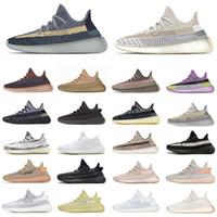 Moda Kül Mavi İnci Taş V2 Karbon Kanye West Erkek Koşu Ayakkabıları Fade Kum Taupe Doğal Yansıtıcı Erkek Kadın Eğitmenler Spor Ayakkabıları Yeezy 350 v2 kanye west yeezys