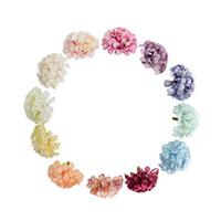 Artificial Hydrangea Cabeça de Flor DIY Silk Hydrangea Acessório para o partido Casamento Casa decoração falsificação Hydrangea Flores