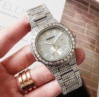 무료 배송 남성용 작은 다이얼 작업 스퀘어 디자이너 완전 라인 석 강철 스트랩 다이아몬드 사파이어 자동 패션 남성 방수 시계
