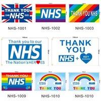 Danke NHS-Flagge UK Das Vereinigte Königreich Rainbow 2020 Brief gedruckt 90 * 150cm Polyester Home Banner Flags Ljjo7928