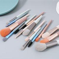 8 stycken / uppsättning mini makeup borste set super mjuk serie, lätt att bära, gratis leverans när som helst
