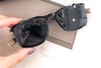 Herren Designer-Sonnenbrillen LSA 403 Flip Up Sonnenbrille Schwarz-Klipp auf UV-Schutz occhiali da sole mit Box