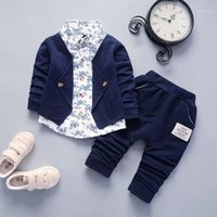 DIIMUU 2pcs Newborn Children Clothes Baby Boys Gentlemen Cas...