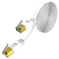 컴퓨터 케이블 커넥터 LAN 7 이더넷 인터넷 플랫 네트워크 RJ45 커넥터 케이블