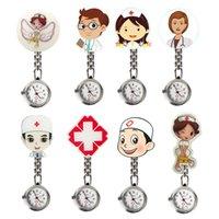 New fofo harajuku enfermeira mulheres tendência tendência bolso pendurado relógio broche decoração de quartzo