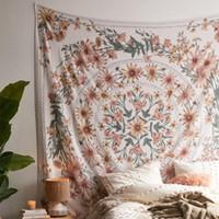 Mandala Tapiz Tapiz Tapiz psicodélico de la flor colgante de pared de decoración para chicas Salón Dormitorio de Bohemia de la planta de impresión