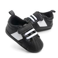 0-18M için Erkek Bebek Ayakkabı makosenler PU Deri yürümeye başlayan ilk yürüteç yumuşak soled bebek kız ayakkabıları Yenidoğan erkek Sneakers