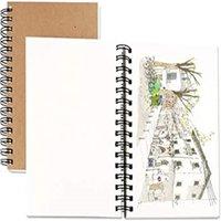 كرافت غطاء دفتر ملاحظات مجلات مخطط للمخطط مع ورقة فارغة يوميات البني مذكرات للمسافرين الرسم الرسم