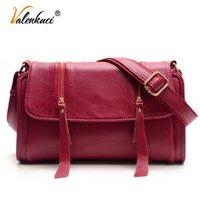 Valenkuci Женщины дизайнерские сумки для сумки SD-380 кожаные женские мессенджеры кожаные сумки Crossbody старинные женщины ABBQB