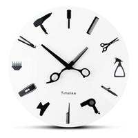 Friseur Wanduhr Barber Equiment Werkzeuge Wanduhr Modern Design Shop Business Zeichen Beauty Friseur Salon