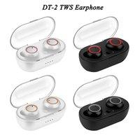 DT-2 DT2 TWS de Alta Qualidade Sem Fio Bluetooth Favoritos Fitness Earbuds HiFi Som com caixa de carregamento magnético Universal para Huawei iPhone LG