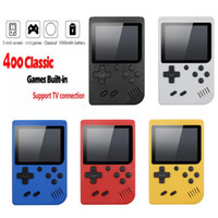 Consola de videojuegos de 3 pulgadas Pantalla de 8 bits Mini bolsillo Handheld Jugador de juegos 400 juego gratis DHL envío