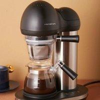 ماكينات القهوة JRM0134 آلة المنزلية التلقائي صانع الأمريكى طحن مدمج صغير مختومة البخار استخراج