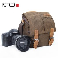 AETOO Portable small shoulder oblique strap photography digital camera bag anti-splashing canvas male and female camera bag