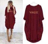 Vogue Print Summer Dress Dress Women Tasche Midi T Shirt Abiti da donna Long Tops Large Plus Size 5xl Casual Dress Vestiti allentati1