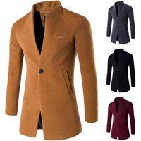 Men's Jackets Men Brand Winter Mens Fashion Clothing Trench Sweater Slim Long Sleeve Cardigan Warm Over Woollen Top Coats Male Outwear